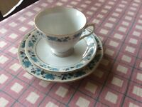 Trio of cup, saucer and side plate