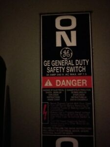 GE Electrical Safety Switch - Model # TG3221