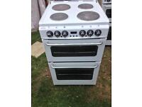 New world electric cooker double oven 55 cm white