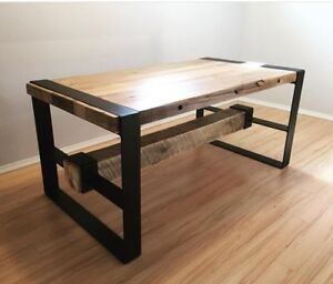 High-end rustic modern set - table, bench and console table