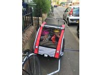 Bike Trailer for 2 Children and a Double Pram