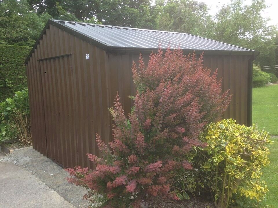 Garden Sheds Gumtree pvc steel clad garden sheds - no painting - free shelving | in