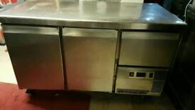 Pizza topping prep counter chiller stainless steel fully working