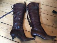 Dune leather boots. Women's 39.