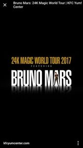 Bruno Mars Bell Center Tuesday August 29th
