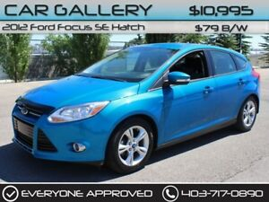 2012 Ford Focus SE Hatch $79B/W QUICK  EASY FINANCING-INSTANT AP