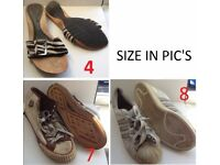 Shoes (see pic for size) - See description for individual prices