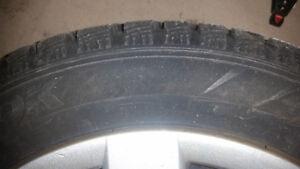 Winter tires  with rims only 5000 km