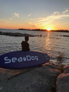 """Sea Dog 10'-6"""" Inflatable Stand Up Paddle Board & Accessories"""