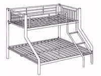 Bunk Bed. Metal Frame. Atlas Triple Sleeper.