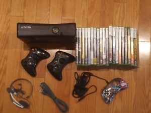 Xbox 360 with 20 games incl Star Wars titles and ample glory!