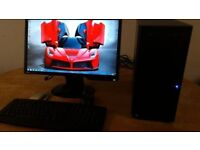 SAVE £30 Custom PC Gaming New Business PC Desktop Tower & Benq Widescreen LCD