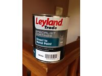 Leyland direct to metal paint white 750ml new