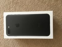 Iphone 7plus 256 GB Unlocked Matt Black only 1 month old