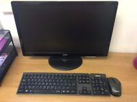 """Speedy Asus wireless desktop and 21.5"""" Acer LED monitor"""