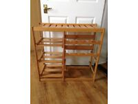 Wine rack and kitchen storage unit - wooden- in very good clean condition - from smoke free home