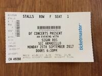 Sigur Ros Ticket, 25th Sept, Glasgow Armadillo