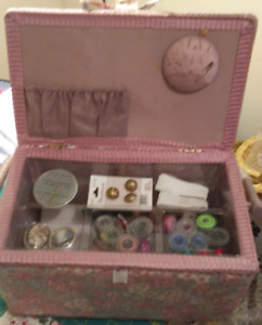 Sewing Basket with goodies