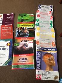 11+ eleven plus books & practice Books Complete set
