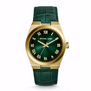 Michael Kors Channing Green Leather Watch
