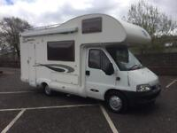 Fiat Ducato glen mclouis 5 berth 54 Reg reduced to £19995 low mileage finance available shower