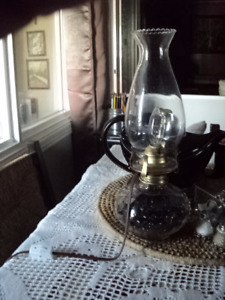 3X Oil lamps (2-electrified/1-oil burning)