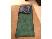 Scout Childs sleeping bag 0 Fahrenheit green teenager camping