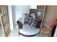 For Sale 2/3 seater sofa & 1 swivel arm chair
