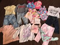 Girls mixed clothes 6-9m