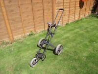 Hill Billy Tracker Golf Trolley - 3 Wheel Folding Trolley - Excellent