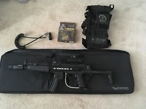 Paintball gear: upgraded bt delta, remote line, pod pack,