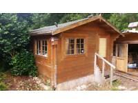 Log Cabin 3.9m x 3.9m 45mm timbers