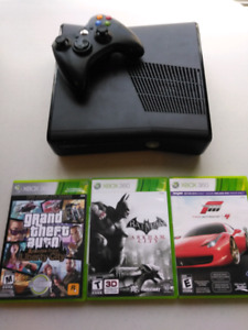 Xbox 360 with Remote and 3 Games