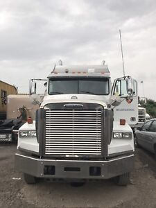 freightliner FLD classic 2007, With stargate dump truck trailer