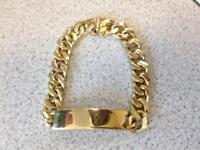 """9ct Gold ID Bracelet, 69g and 8"""""""