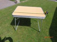 .Folding small camping table.
