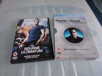 The Bourne Identity The Bourne Ultimatum The Bourne Supremacy 3 DVDs