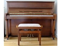 Steinway-Boston upright piano model UP-118E in polished walnut finish, incl matching stool