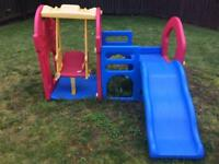 Slide and swing set