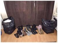 Ladies size 12 Clothes 2 Mixed Bags plus size 7 shoes and boots all for £25 smoke free home