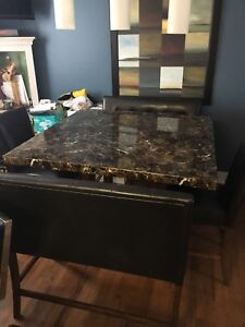 Beautiful 4 foot square kitchen table with seating for 7-8