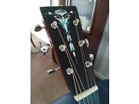 Recording King RO126 acoustic guitar,all solid tone woods in mint condition.