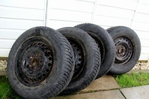 Set of 4 - Honda Civic Tires With Rims
