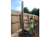 10ft fence posts for sale. Cost £25.00 new. £8.00 each buy 10 get 2 free!