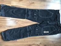 Henley jeans men's