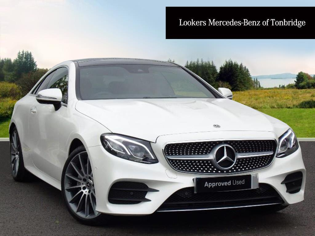 Mercedes benz e class e 220 d amg line premium plus white for Mercedes benz e class amg 2017