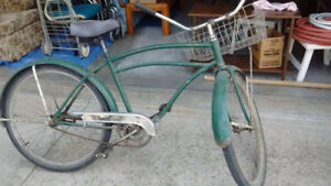 Two Vintage Cruiser Bikes 1947 Huffman, one owner