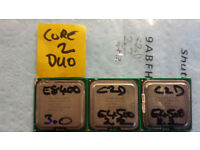 3 x Intel Core2Duo Dual Core Processors E8400 3.0Ghz and E4500 2.2Ghz