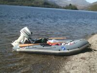 outboard and dinghy