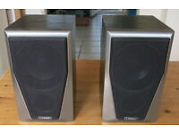 Mission M2S Speakers + wall brackets (attached)